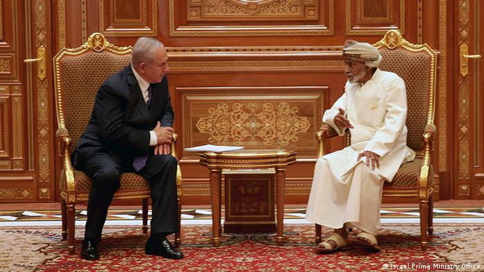 Oman Netanjahu bei Sultan Sultan of Oman Sayyid Qaboos bin Said Al Said (Israel Prime Ministry Office)