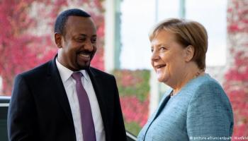 Abiy Ahmed and Angela Merkel