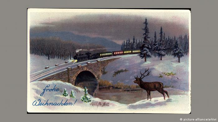 Рождественская почтовая открытка, 1926 год