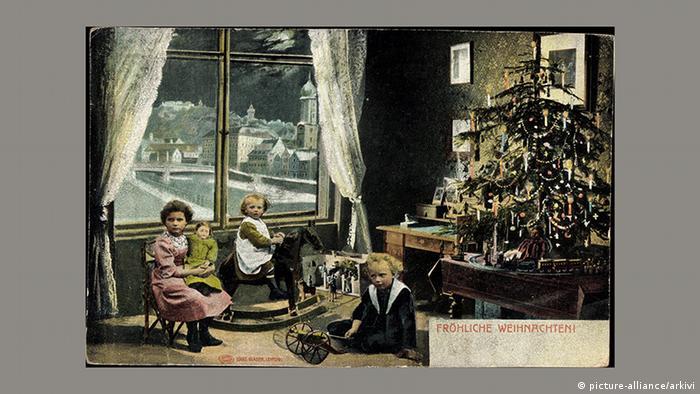 Рождественская почтовая открытка, 1934 год