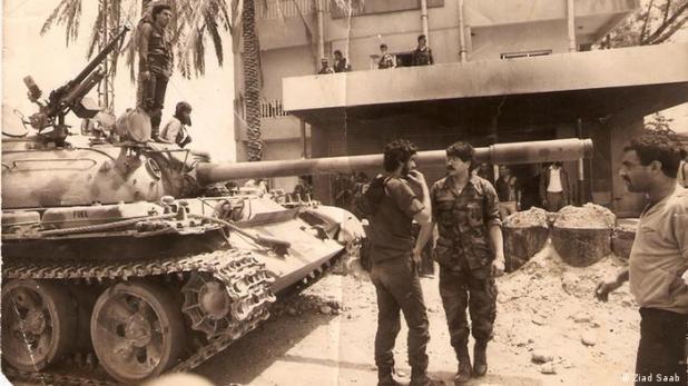 Ziad Saab hat im libanesischen Bürgerkrieg gekämpft - Libanon Anfang der 1980er (Ziad Saab )
