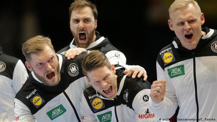 deutscher handball kampft gegen das