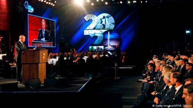 Israel Jerusalem   75. Jahrestag Befreiung von Auschwitz   World Holocaust Forum   Wladimir Putin, Präsident Russland (Getty Images/AFP/R. Zvulun)