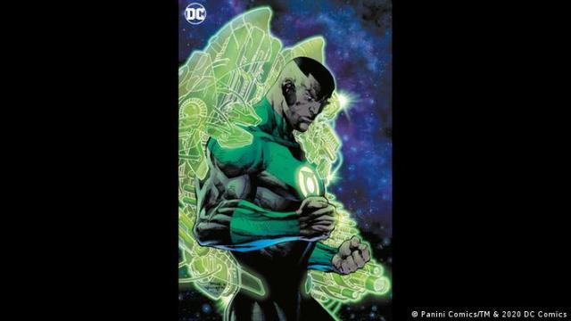 Green Lantern superhero John Stewart (Panini Comics/TM & 2020 DC Comics)