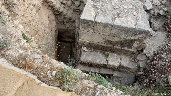 An excavation site at the Zion mountain in Jerusalem