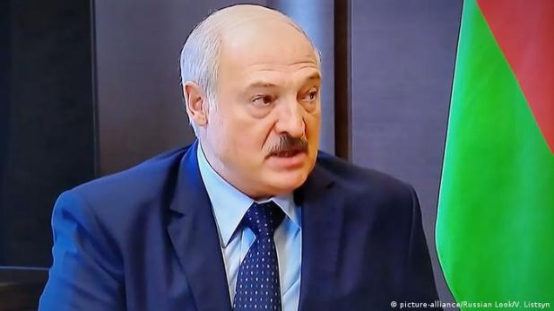 Screenshot   Russland Sotschi Treffen Putin Lukaschenko   Alexander Lukaschenko (picture-alliance/Russian Look/V. Listsyn)