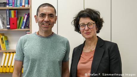 Ugur Sahin und seine Frau Özlem Türeci