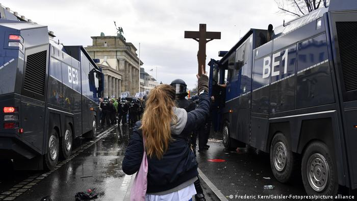 A cross against the Police.