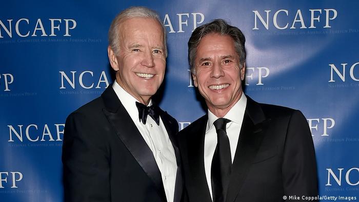 Joe Biden y Anthony Blinken.