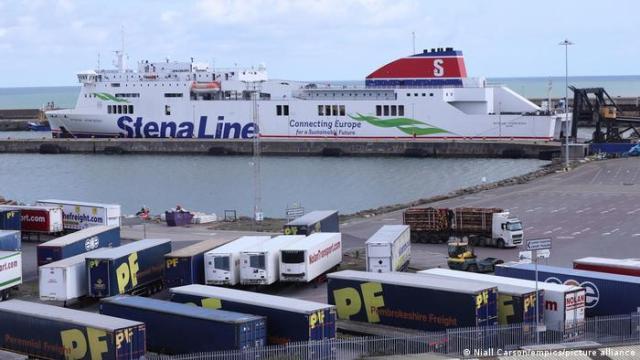 Freight trucks at Rosslare Europort