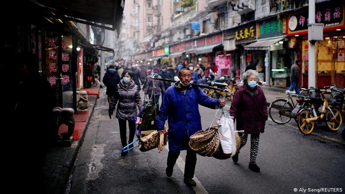 Las calles de Wuhan.