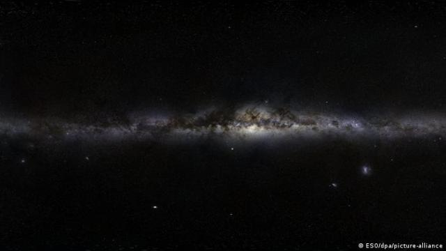 A panorama of the night sky