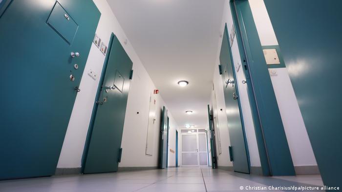 A corridor at the juvenile detention center