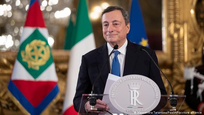 Italien Mario Draghi äussert sich zur Regierungsbildung