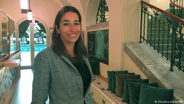Hotel manager Tini Diekmann from the Hotel Oderberger in Berlin