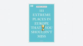 Book cover | Extreme places in Europe that you shouldn't miss written in white on a pale blue background