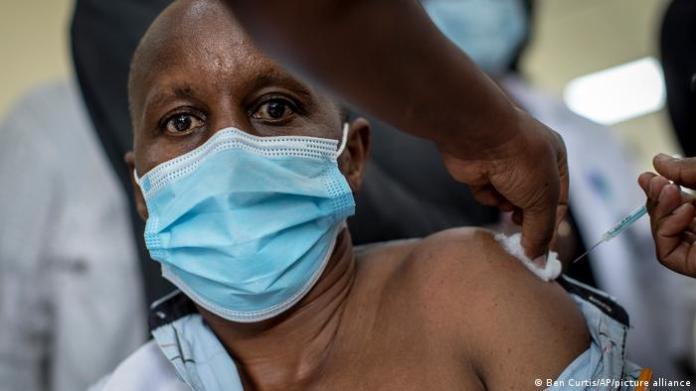 Kenyan man receives COVAX jab