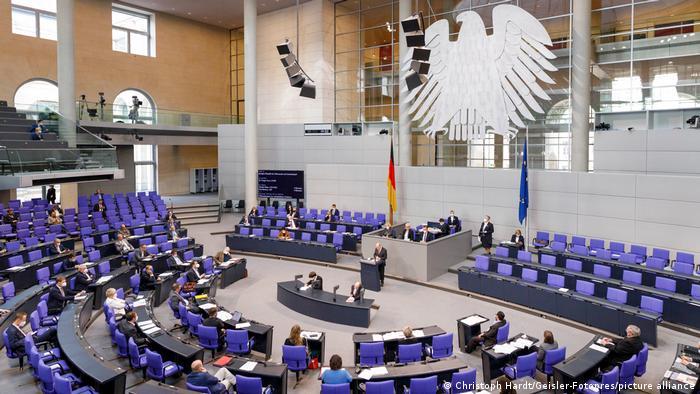 Сесійна зала німецького Бундестагу
