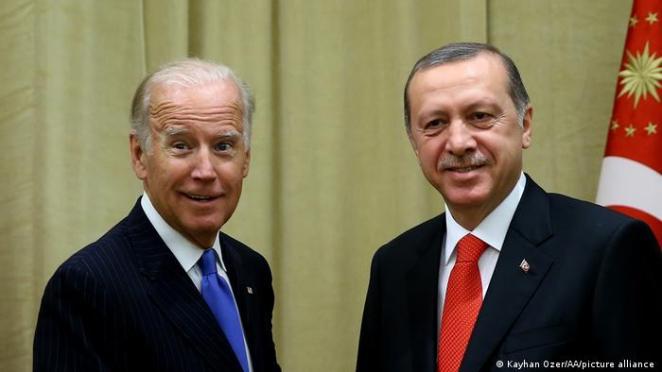 Joe Biden ve Recep Tayyip Erdoğan 2016'da ABD'de bir araya gelmişlerdi.