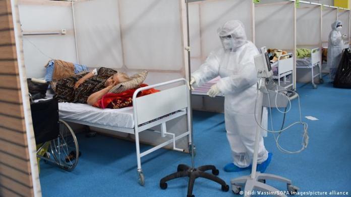 Tunisia Covid-19 ward in a hospital in Tunis