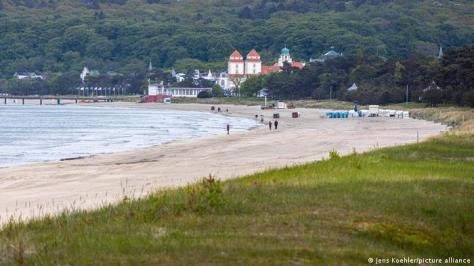 A beach near Binz on the island of Rügen, Germany