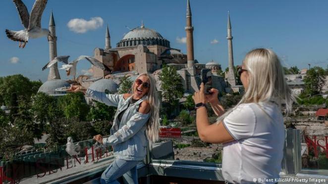 İstanbul'da turistler