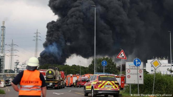 Explosionen Chempark Leverkusen