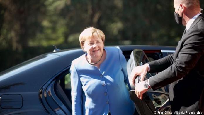Bundeskanzlerin Angela Merkel in Albanien