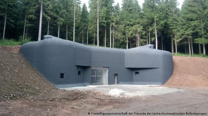 The renovated Bouda bunker in the Czech republic