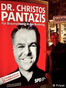 Προεκλογική αφίσα: Δρ. Χρήστος Πανταζής - Για το Μπράουνσβαϊγκ στη βουλη