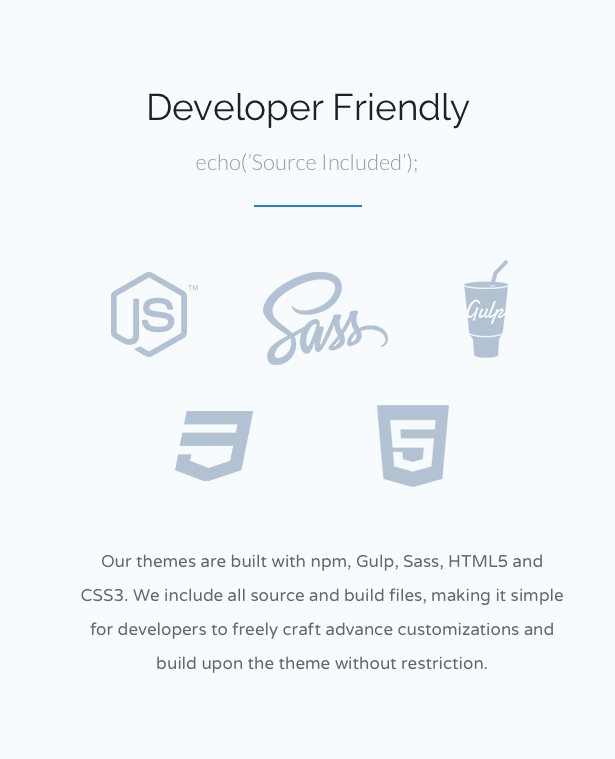 Developer Friendly