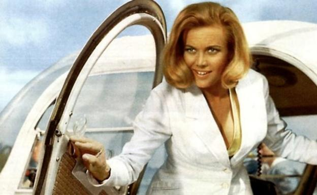 Honor Blackman as Pussy Galore in 'Goldfinger'.
