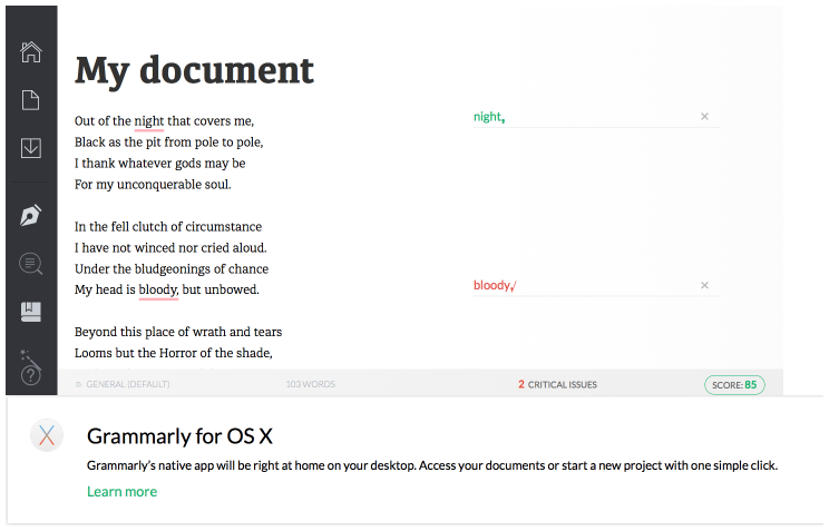 How Grammarly checks your work - Method 1