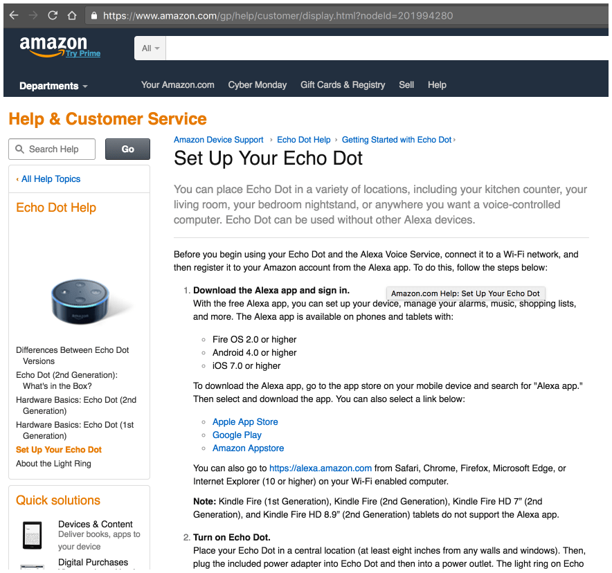 Installing the Amazon Dot