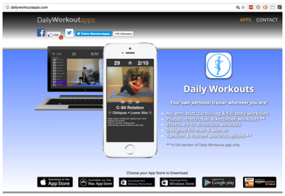 Daily Workouts - quick exercise routines that make sense