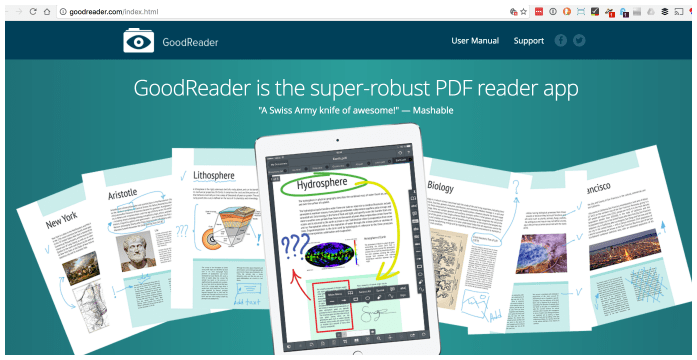 GoodReader - the swiss army knife of PDF and pdf-like things