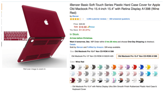 iBenzer Hard Case Cover and Keyboard Cover for Macbook