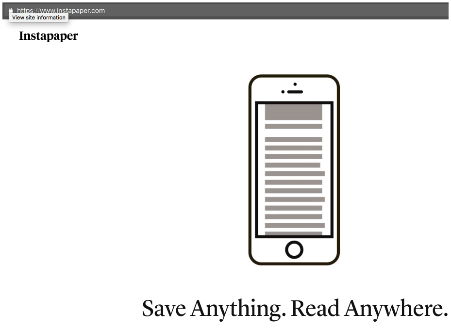 Instapaper - the read anything anywhere app