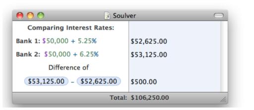 Soulver - best un-spreadsheet spreadsheet program