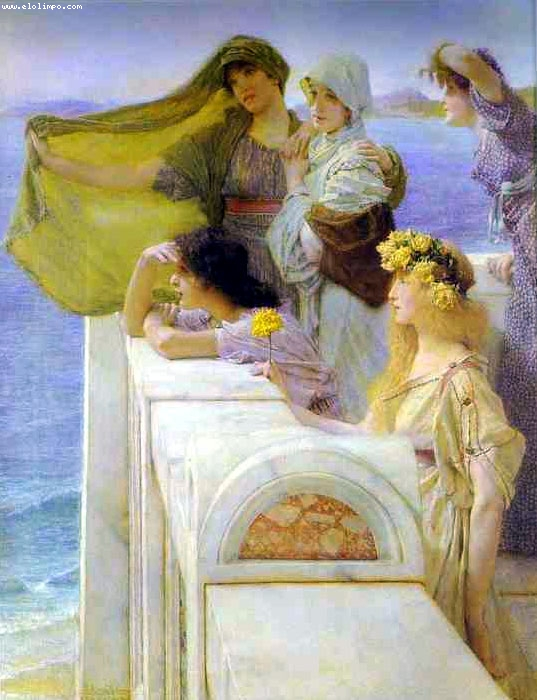 En la cuna de Afrodita - Alma-Tadema, Sir Lawrence