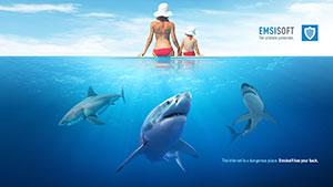 Emsisoft Wallpaper Sharks