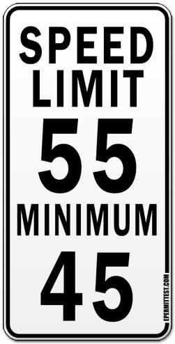 Maximum Amp Minimum Speed Limits Regulatory Road Signs