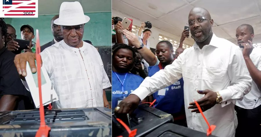 Image result for Voting ends in contentious Liberia presidential run-off election