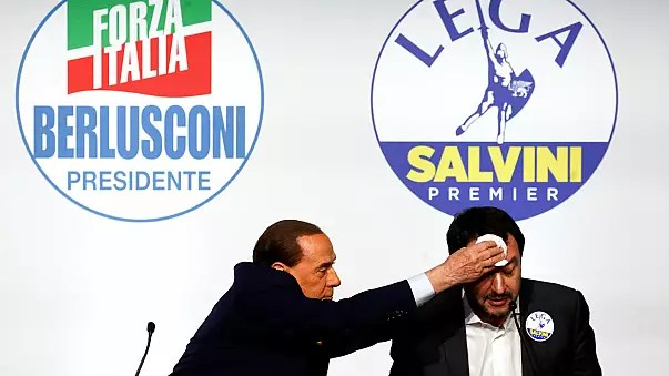 Image result for salvini berlusconi