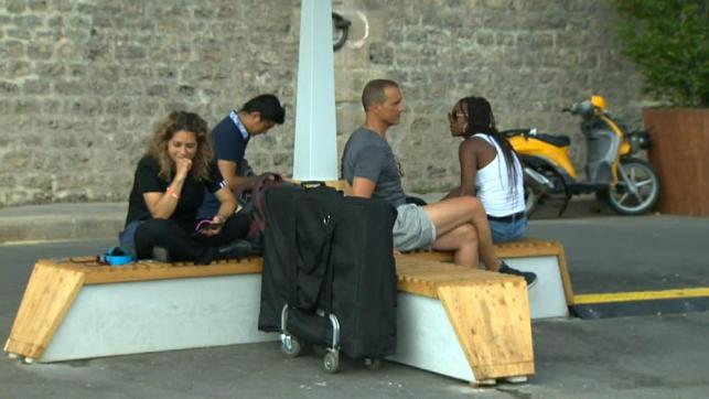 Paris' cooling bench is the latest tool to help people beat the heat
