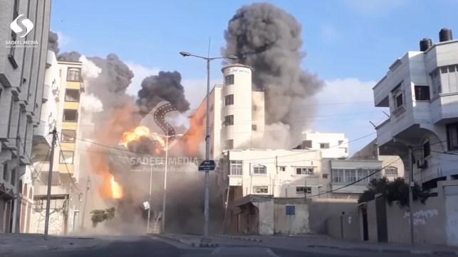 Israeli airstrikes flatten cultural centre in Gaza strip as Hamas seeks truce   The Cube