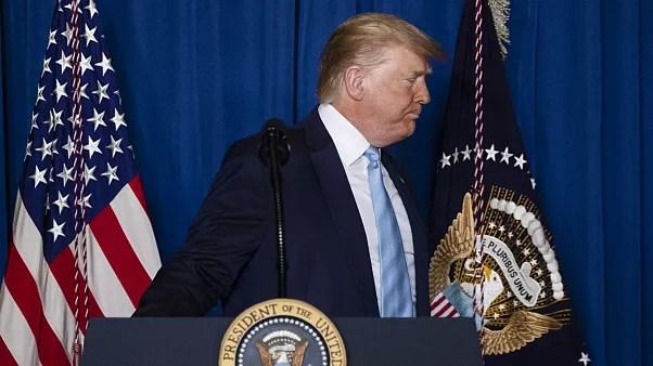 دونالد ترامپ پس از سخنرانی در وست پالم پیچ، فلوریدا، جمعه سوم ژانویه ۲۰۱۹