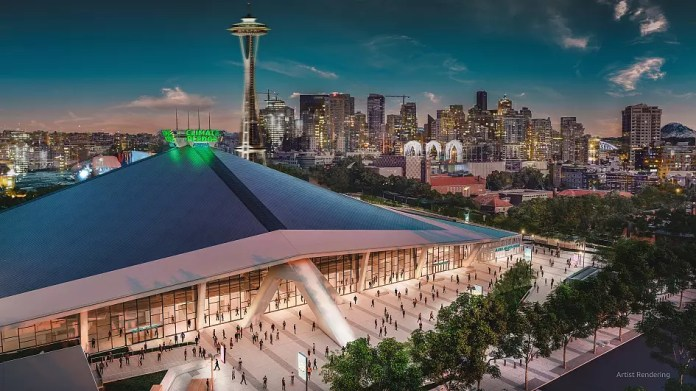 Jeff Bezos makes green pledge with new stadium - but critics say 'billionaires won't save us'