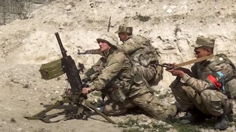 سربازان جمهوری آذربایجان در جنگ قرهباغ