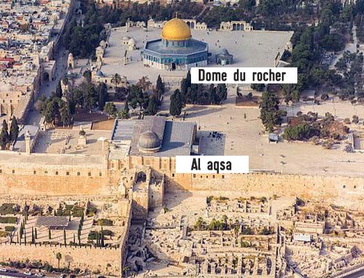 Mont du temple, Jérusalem capitale d'Israel.